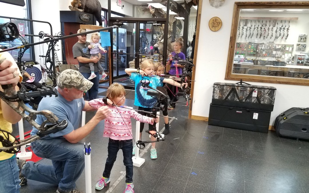 Gary loves teaching archery.