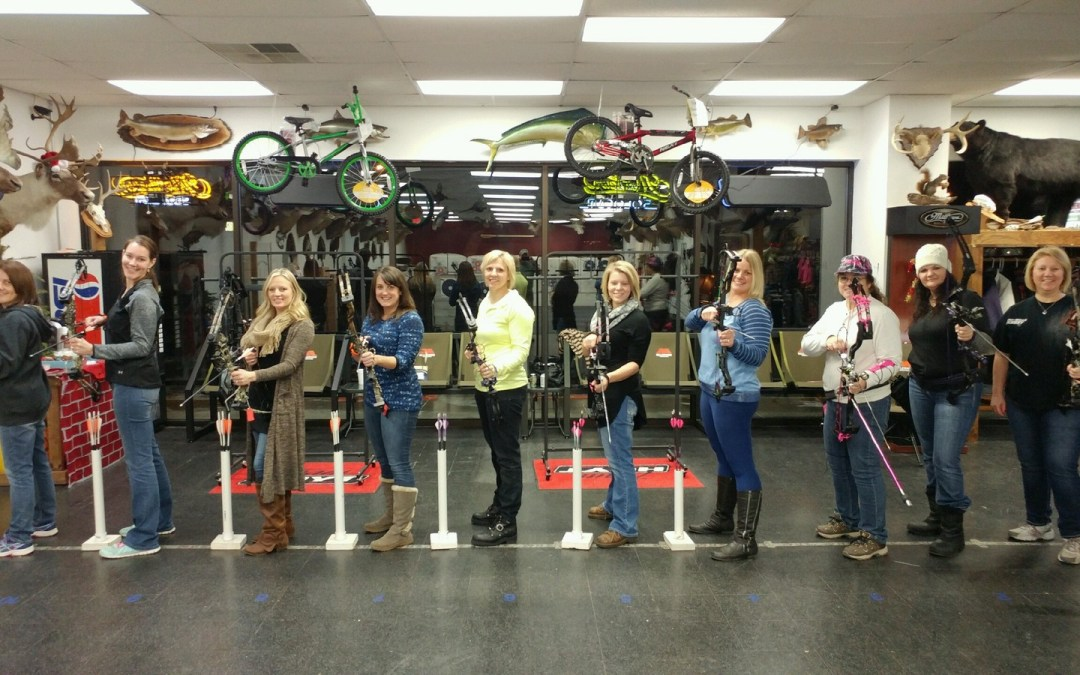 Ladies Night here at Bucks and Bulls Archery
