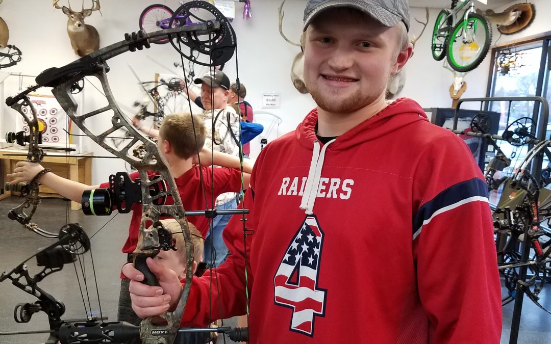 Jacob shooting with his new Hoyt Powermax