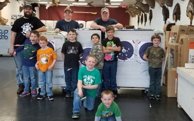 Cub Scouts outing at Bucks and Bulls Archery