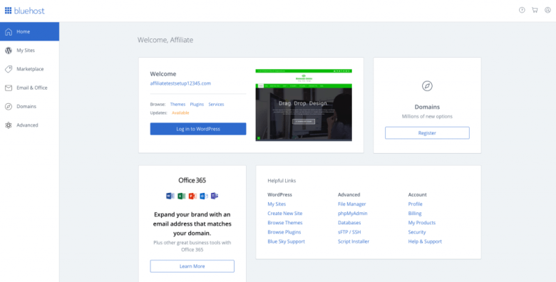 Bluehost cPanel