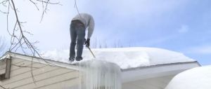 ice dam shovel roof