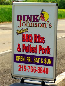 Oink Johnson's BBQ; photo by L. Goldman