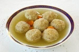 Matzoh balls with soup; iStock