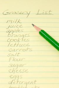 Grocery list; iStock