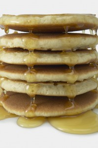 Stack of Pancakes with Syrup; MSClipArt