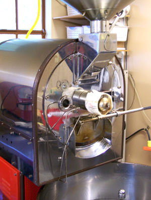 Coffee roaster; photo by L. Goldman