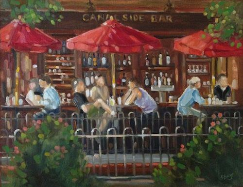Lambertville Station Canal Side Bar. Copyright Jean Childs Buzgo.