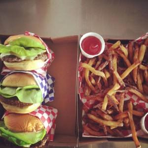 Moo truck burgers