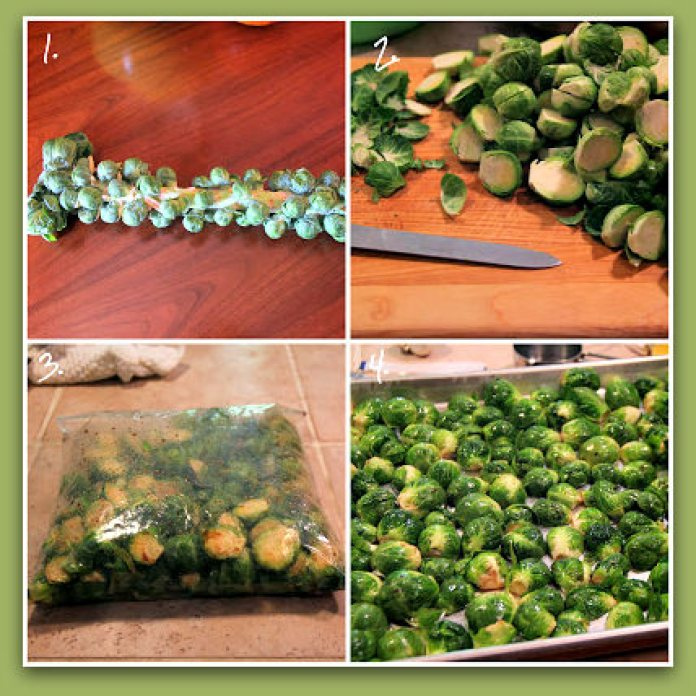 Oven roasted Brussels sprouts_frame_step by step; photo by H. Kirby