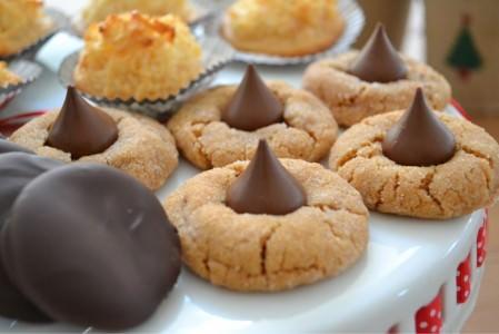 Flourless Peanut Butter Kiss Cookies; photo by K. Madey