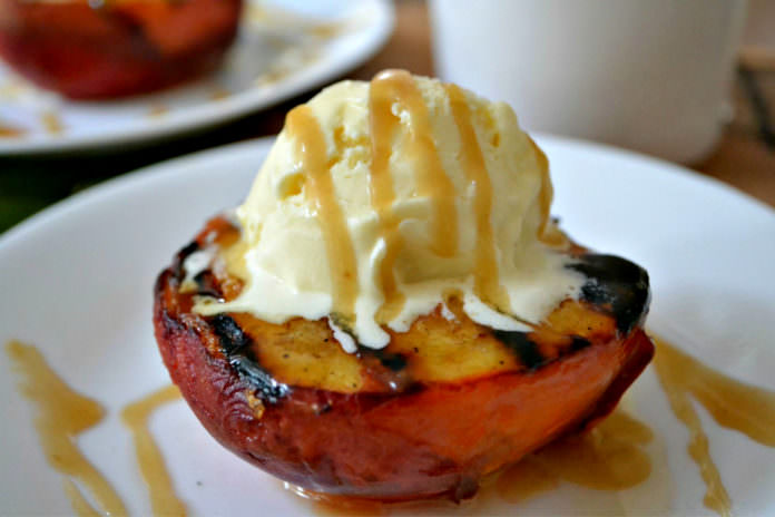 Grilled peach; photo credit Kelly Madey