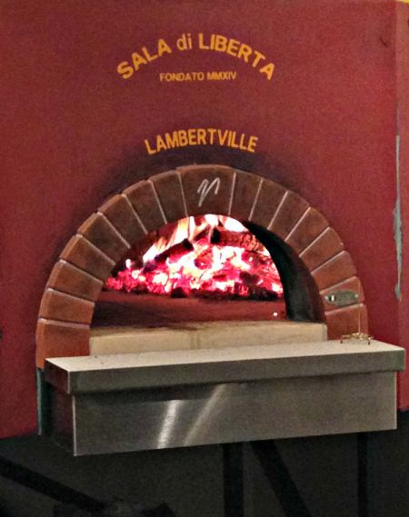 LIberty Hall pizza oven; photo L. Goldman