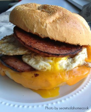 Pork Roll Breakfast Sandwich