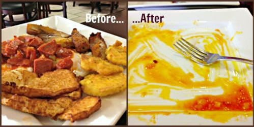 Ma's Kitchen_Huevos a lo Campesino_before & after