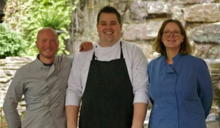 Chefs Ian Knauer, Alan Heckman and Shelley Wiseman