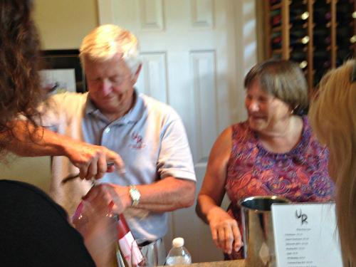 Jim & Kathy Jenks_Unami Ridge Winery; photo credit L. Goldman