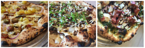 Pizza variety from Liberty Hall Pizza in Lambertville