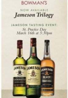 Jameson Trilogy at Bowman's Tavern; Bucks County food events