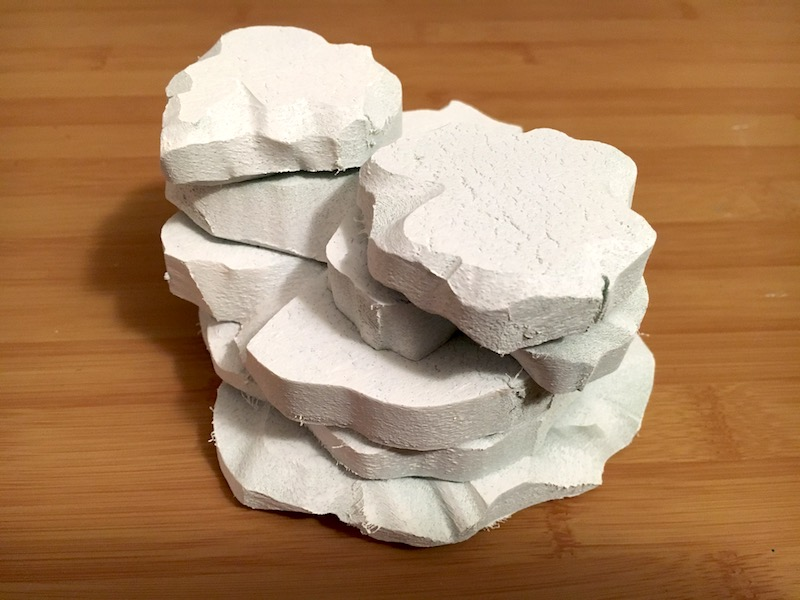 Rock formation after using the Krylon foam primer