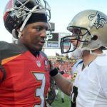 Jameis Winston tips his hat to Drew Brees