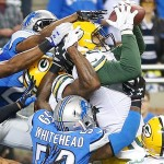 Green Bay wins with a wild last minute hail mary pass