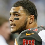 Mike Evans ends his protest.