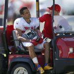 """""""Hey Jude"""" to have an MRI and Brent Grimes carted off practice field."""