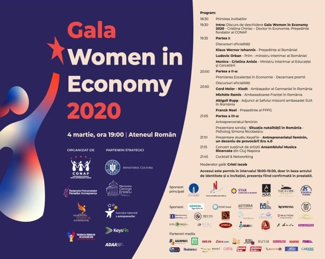 Gala Women in Economy a premiat excelenta in business