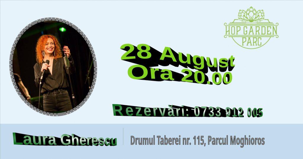 Laura Gherescu live pe terasa Hop Garden Parc