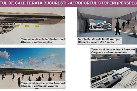 FOTO – VIDEO Cum va arata trenul Bucuresti – Aeroportul Otopeni!