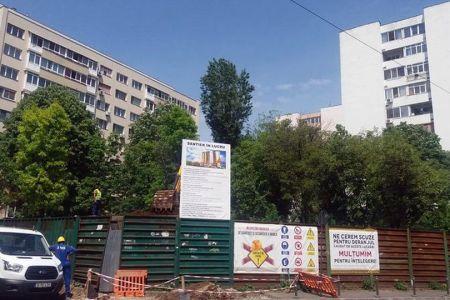 Primaria Sectorului 4 a aprobat constructia unui bloc de 9 etaje pe un spatiu verde aflat intre alte blocuri!