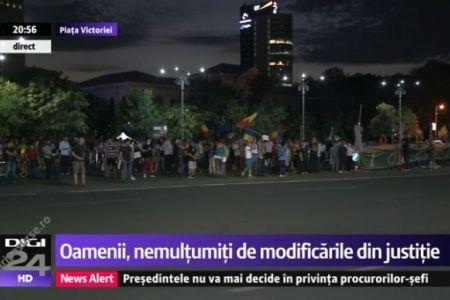 "Proteste in Piata Victoriei! ""Guvernarea PSD a poruncit, Tudorel Toader s-a executat!"""