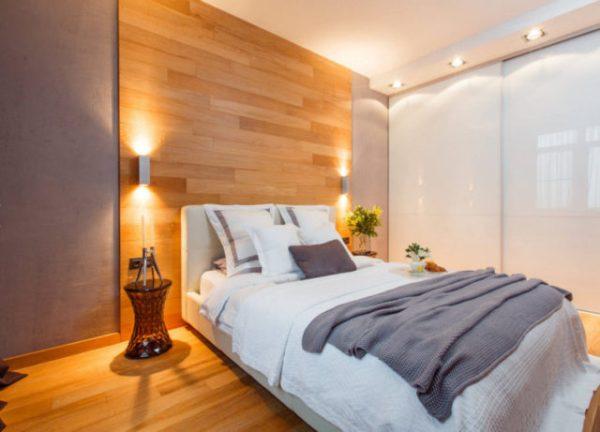 Ламинат на стене в спальне: как сделать своими руками ...