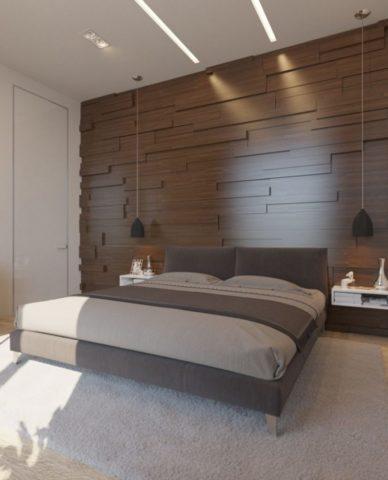Стеновые панели для спальни: гипсовые, деревянные, МДФ, 3D ...