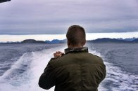 Skjalg grabbing some shots on a 2 hour boat cruise out to the islands around Bodø