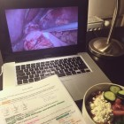 Dinner and surgery studying