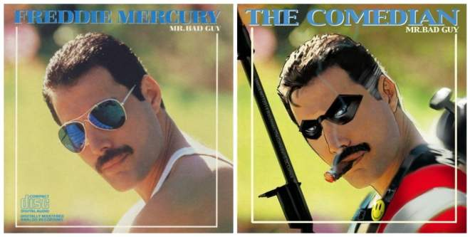 Freddie Mercury album cover The Comedian cover