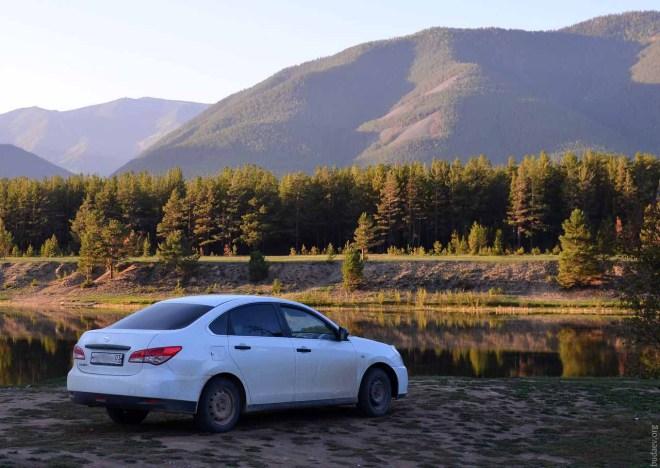 Nissan Almera 2014 на реке Баргузин