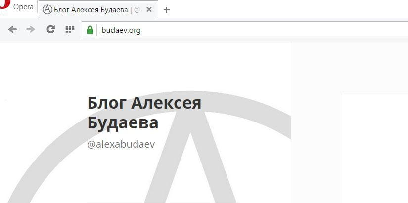 Зелёный замочек TLS для Budaev.org