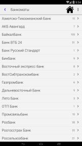 Приложение «Весь Улан-Удэ» - список банкоматов