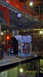 After damage from hurricane Sandy, the Master Riggers at Budco rigged replacement transformers and switchgear into position at the new World Trade Center.