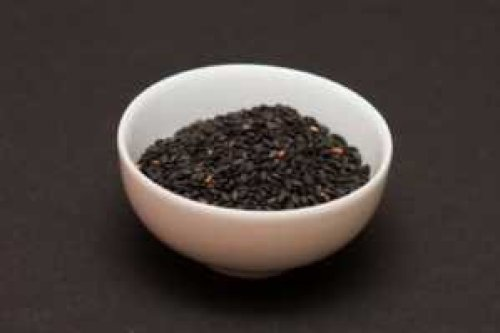 black sesame seeds... one of the richest sources of calcium and loaded with other benefits. Anasha often makes raw sesame milk with raw dates and it is blissful!