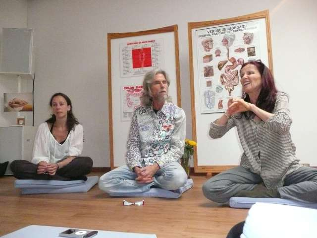 "Anasha teaching ""Healthy Conscious Nutrition"" in Koln, `Germany... 2011"