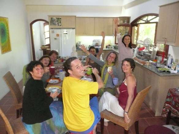 "Anasha teaching ""Raw Food"" prep in Vilcabamba this summer... Spiritual Nutrition is an essential ingridient of ""ARUN Touch of Meditation"" and vibrant health"
