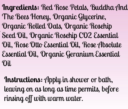Buddha And The Bees Honey Rose Face Scrub Ingredients