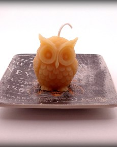 Buddha And The Bees 100% Pure Beeswax Little Owl Candle