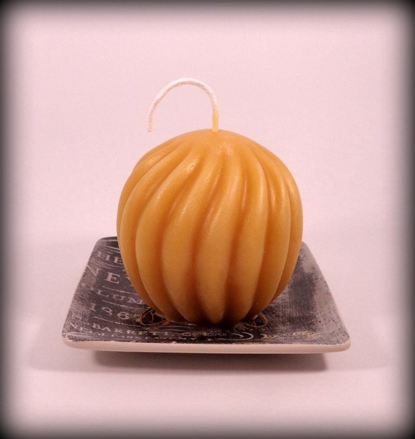 Buddha And The Bees 100% Pure Beeswax Swirl Ball Candle