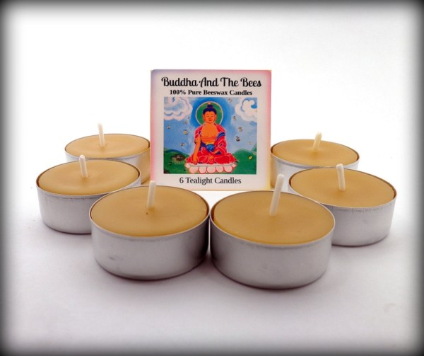 Buddha And The Bees Small Tealights Metal Cup