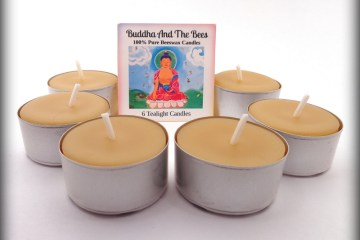 Buddha And The Bees Tealights Large Cup (Metal)